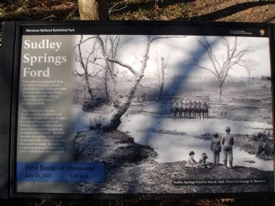 Sudley Springs Ford Marker image. Click for full size.