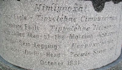 <i>Nimíipuu</i> (Nez Perce) Names on Marker image. Click for full size.
