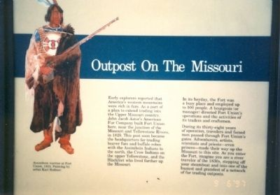 Outpost on the Missouri Marker image. Click for full size.