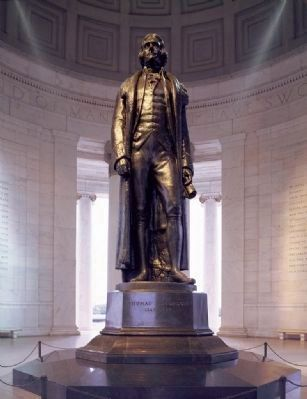 <i>Rudulph Evans&#39;s statue of Thomas Jefferson...</i> image. Click for full size.