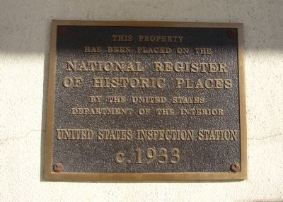 United States Inspection Station Marker image. Click for full size.