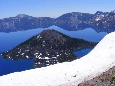 Wizard Island - Crater Lake National Park image. Click for full size.