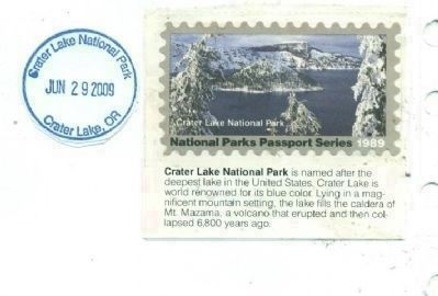 National Park Passbook Cancellation Stamp. image. Click for full size.