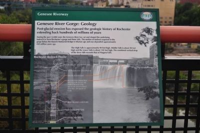 Genesee River Gorge: Geology Marker image. Click for full size.