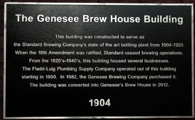 The Genesee Brew House Building Marker image. Click for full size.