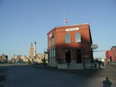 The Genesee Brew House Building Marker as seen facing west image. Click for full size.