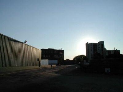 Standard Brewing Company's main Brewery Building. Marker as seen facing East image. Click for full size.