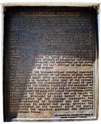 Hill Cumorah Monument Marker image. Click for full size.
