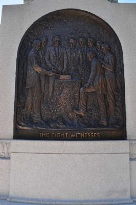 Eight Witnesses Plaque at Monument Base image. Click for full size.