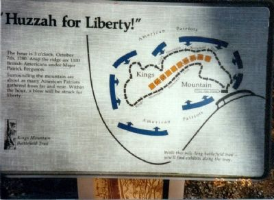 """Huzzah for Liberty!"" Marker image. Click for full size."