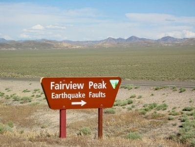 BLM Entry Sign to Earthquake Fault Road on US 50 image. Click for full size.