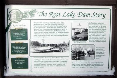 The Rest Lake Dam Story Marker image. Click for full size.