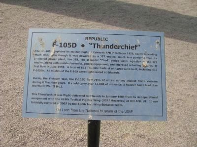 "F-105D � ""Thunderchief"" Marker image. Click for full size."