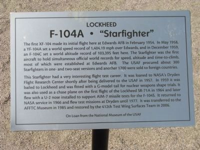 "F-104A • ""Starfighter"" Marker image. Click for full size."