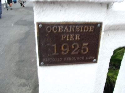 Plaque Mounted at the Entrance to the Pier image. Click for full size.