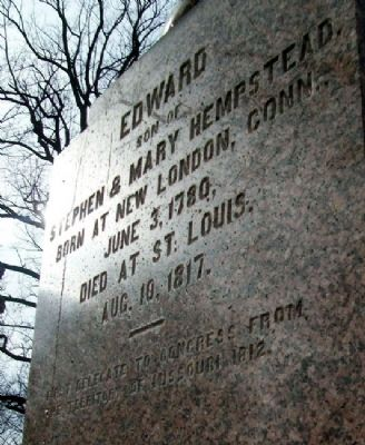 Edward Hempstead Marker image. Click for full size.