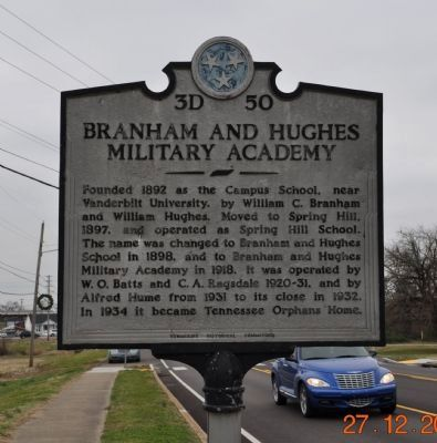 Branham and Hughes Military Academy Marker image. Click for full size.