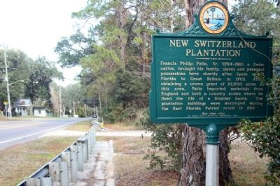 New Switzerland Plantation Marker, seen looking north along Florida Route 13 image. Click for full size.