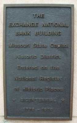 The Exchange National Bank Building Marker image. Click for full size.