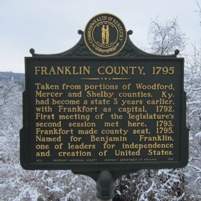Franklin County, 1795 Marker image. Click for full size.