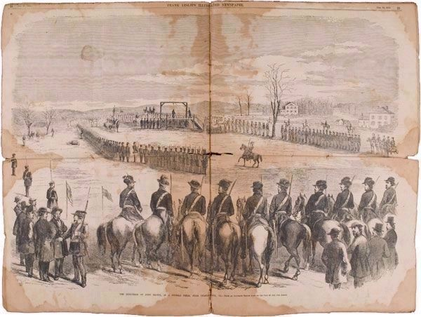The Execution of John Brown, In a Stubble Field, Near Charlestown, Va. image. Click for full size.