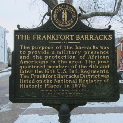 The Frankfort Barracks Marker image. Click for full size.