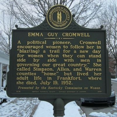 Emma Guy Cromwell Marker image. Click for full size.