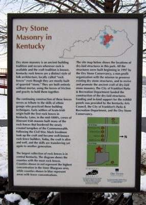 Dry Stone Masonry in Kentucky Marker image. Click for full size.