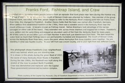 Franks Ford, Fishtrap Island, and Craw Marker image. Click for full size.