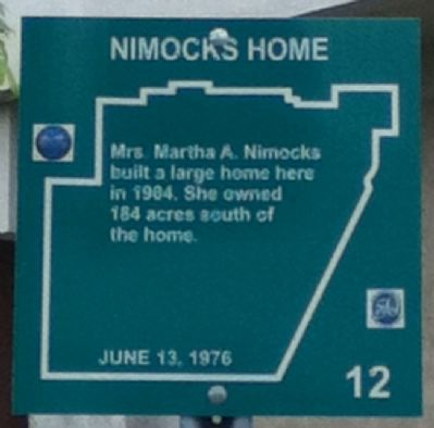 Nimocks Home Marker image. Click for full size.