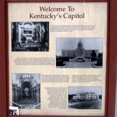 Welcome to Kentucky's Capitol Panel image. Click for full size.