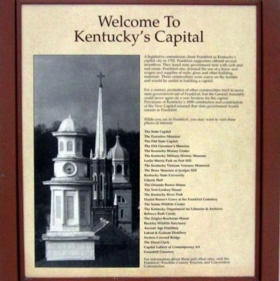 Welcome to Kentucky's Capital Panel image. Click for full size.
