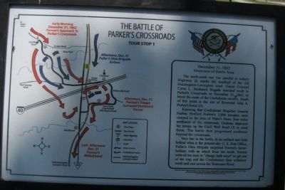 The Battle of Parker's Crossroads - Tour Stop 1 Marker image. Click for full size.