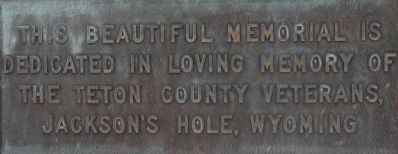 Teton County Veterans Memorial Marker image. Click for full size.