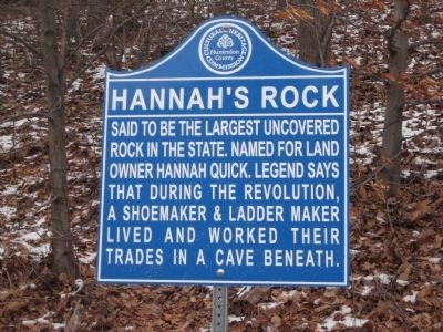 Hannah's Rock Marker image. Click for full size.