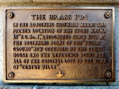The Brass Pin Marker image. Click for full size.