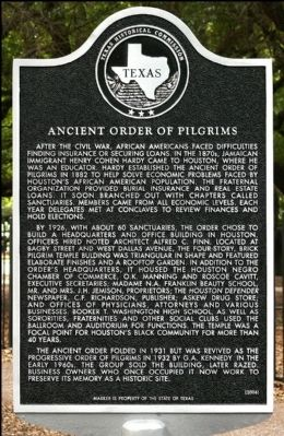 Ancient Order of Pilgrims Marker image. Click for full size.