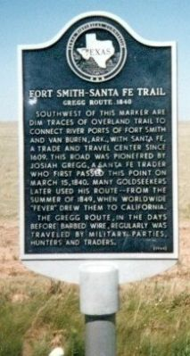 Fort Smith Sante Fe Trail Marker image. Click for full size.