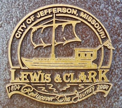 City of Jefferson Lewis & Clark Bicentennial Task Force Emblem image. Click for full size.