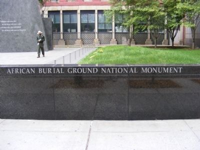 African Burial Ground National Monument Marker image. Click for full size.