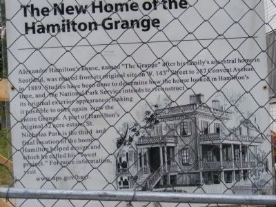 Alexander Hamilton's House Marker image. Click for full size.