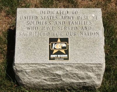 U. S. Army Reserves Marker image. Click for full size.