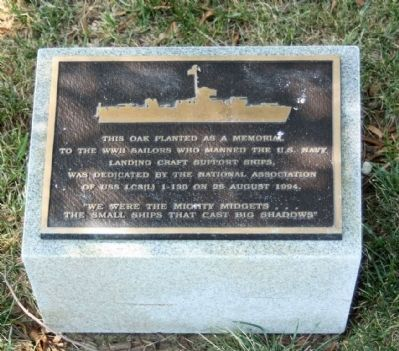 Landing Craft Support Ships Marker image. Click for full size.