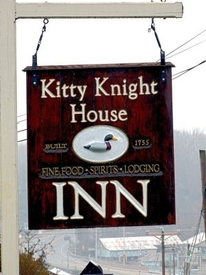 Kitty Knight House Inn sign image. Click for full size.
