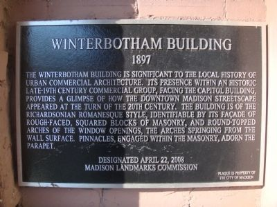 Winterbotham Building Marker image. Click for full size.