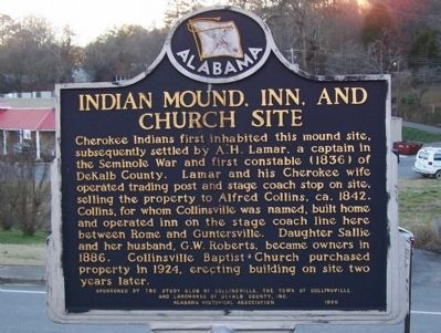 Indian Mound, Inn, and Church Site Marker image. Click for full size.