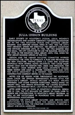 Julia Ideson Building Marker image. Click for full size.