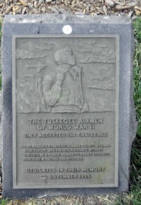The Tuskegee Airmen of World War II Marker image. Click for full size.