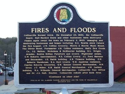 Fires and Floods Marker image. Click for full size.