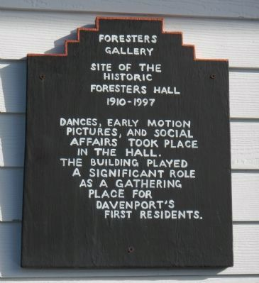 Site of the Historic Foresters Hall Marker image. Click for full size.
